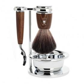 Mühle Rytmo Shaving Set Mach3 + Brush + Bowl, Ash