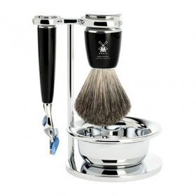 Mühle Rytmo Shaving Set Fusion + Brush + Bowl, Noir