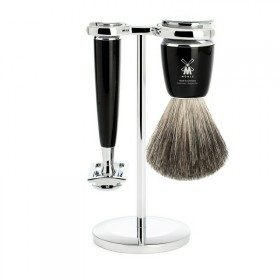 Mühle Rytmo Shaving Set Safety Razor + Shaving Brush Noir