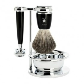 Mühle Rytmo Shaving Set Safety Razor + Shaving Brush + Bowl, Noir