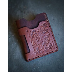 Big Red Beard Minimalist Wallet - Tattoo Edition