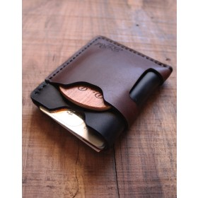 Big Red Beard Minimalist Wallet - Black Sunset
