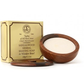 Taylor Of Old Bond Street Sandalwood Shaving Soap Wooden Bowl