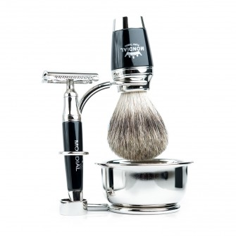 Mondial Dublino Shaving Set with Bowl, Safety Razor
