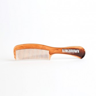 King Brown Handle Comb Tortoise