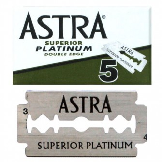 Astra Superior Platinum Double Edge Razor Blades