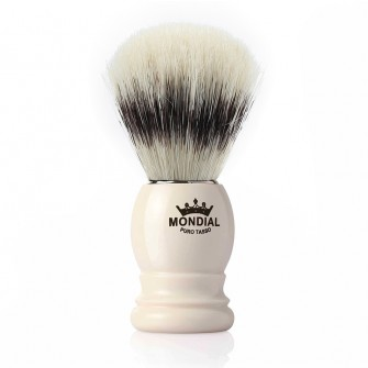 Mondial Basic Shaving Brush Pure Bristle, Ivory