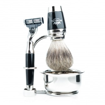 Mondial Dublino Shaving Set with Bowl, Mach3