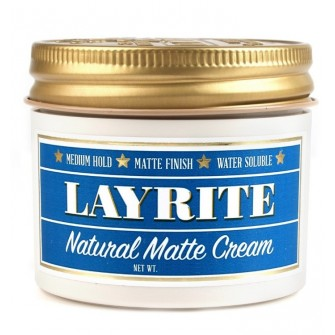 Layrite Natural Matte Cream Barber Size - cremevax med matt finish