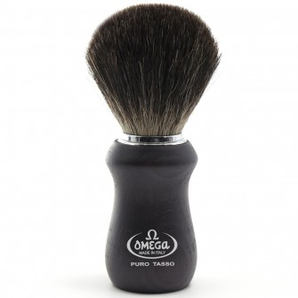 Omega Shaving Brush Pure Badger Ash Wood