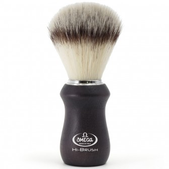"Omega Shaving Brush ""Hi Brush"" Ash Wood Black"