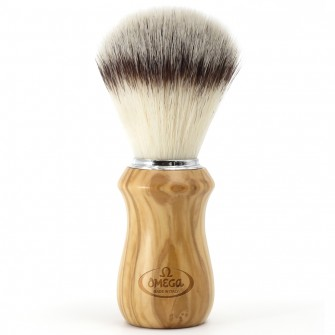 "Omega Shaving Brush ""Hi Brush"" Olive Wood"