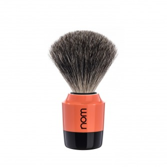 Mühle Nom Mårten Shaving Brush Pure Badger, black/coral