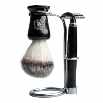 Aarex Shaving Set Shiny Black No. 06