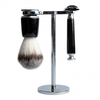 Aarex Shaving Set Shiny Black No. 09