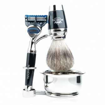Mondial Dublino Shaving Set with Bowl, Fusion