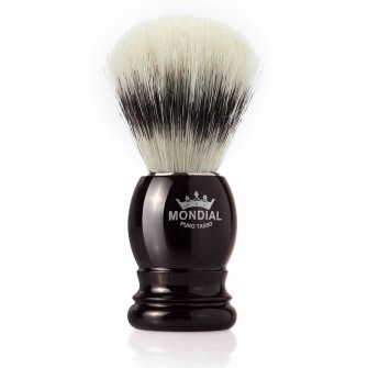 Mondial Basic Shaving Brush Pure Bristle, Black
