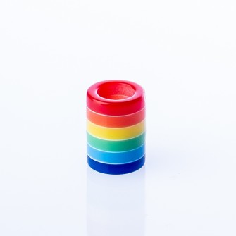 Beard Bead Akrylic Rainbow Straight