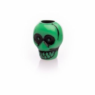 Beard Bead Skull Green