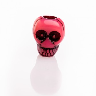 Beard Bead Skull Red