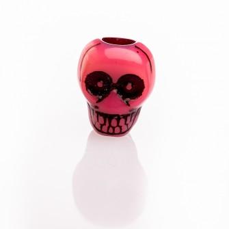 Beard Bead Skull Pink