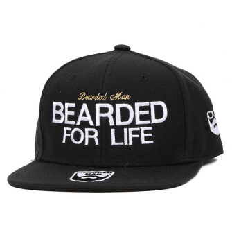 Bearded Man Apparel Bearded for Life Black Snapback