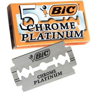 BIC Chrome Platinum Double Edge Razor Blades
