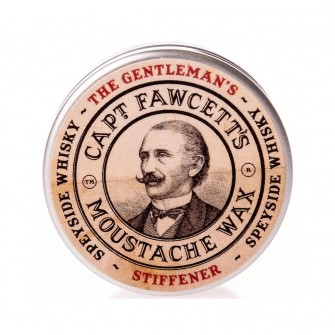 Captain Fawcett Moustache Wax Gentleman's Stiffener Malt Whisky