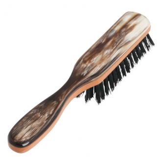 Hermod Beard Brush with Handle Horn Decor