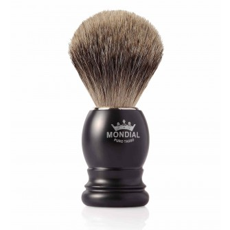 Mondial Basic Shaving Brush Fine Badger, Satin Black