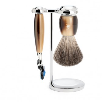 Muhle Vivo Shaving Set Fusion Razor + Brush, Corne