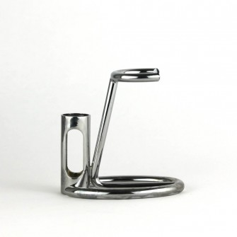 Omega Chrome Shaving Brush & Razor Stand