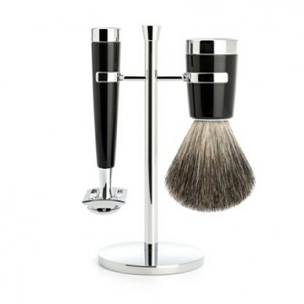 Mühle Lisco Shaving Set Safety Razor + Shaving Brush Noir