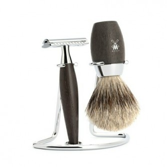 Mühle Kosmo Shaving Set Safety Razor + Fine Badger Oak