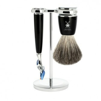 Mühle Rytmo Shaving Set Fusion + Shaving Brush Noir