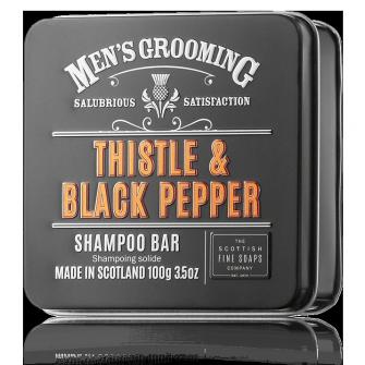The Scottish Fine Soaps Thistle & Black Pepper Shampoo Bar