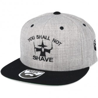 Bearded Man Apparel Shall Not Shave Grey/Black Snapback
