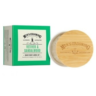 The Scottish Fine Soaps Vetiver & Sandalwood Shave Soap Bowl