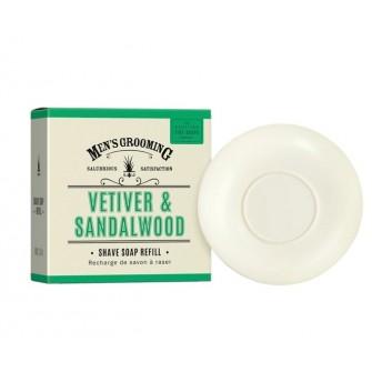 The Scottish Fine Soaps Vetiver & Sandalwood Shave Soap Refill