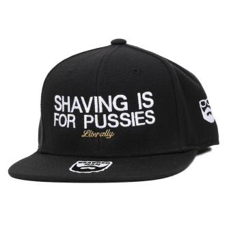 Bearded Man Apparel Shaving Black Snapback
