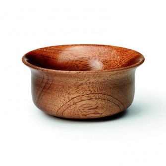 Shaving Soap Bowl Dark Wood
