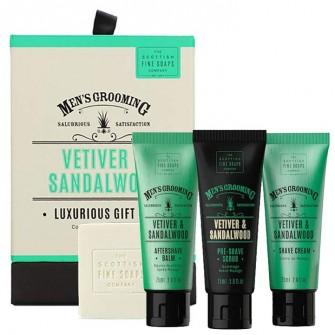 The Scottish Fine Soaps Vetiver & Saldalwood Luxurious Gift Set