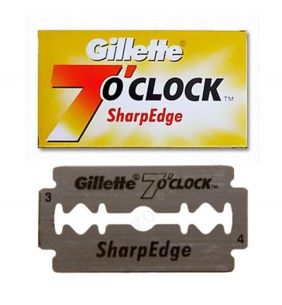 Gillette 7 o'clock Sharp Edge Double Edge Razor Blades