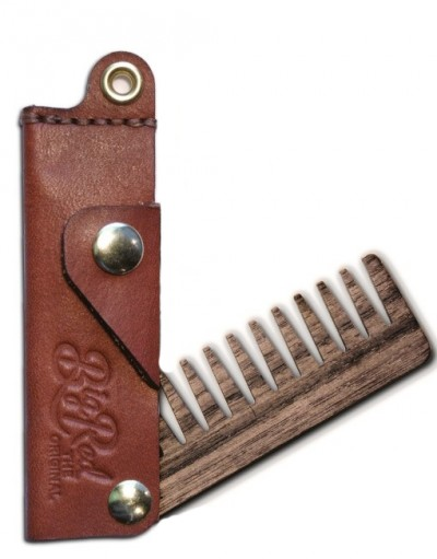 Big Red Beard Comb No.22 - Leather Wide