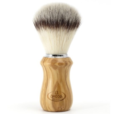 """Omega Shaving Brush """"Hi Brush"""" Olive Wood"""