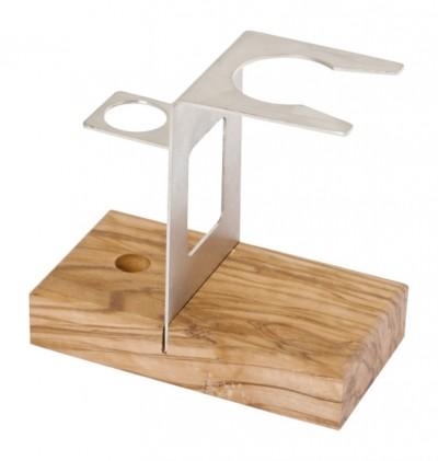 Hermod Shaving Kit Stand Olive Wood
