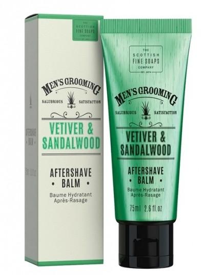 The Scottish fine soaps vetiver & sandalwood aftershave balm