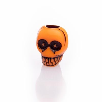 Beard Bead Skull Orange