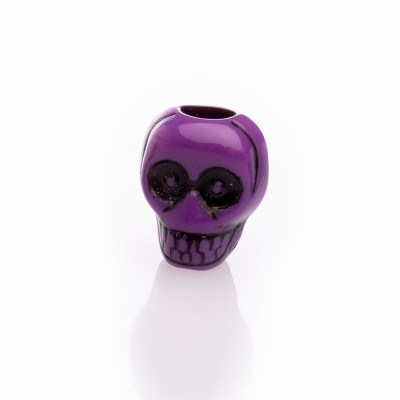 Beard Bead Skull Purple
