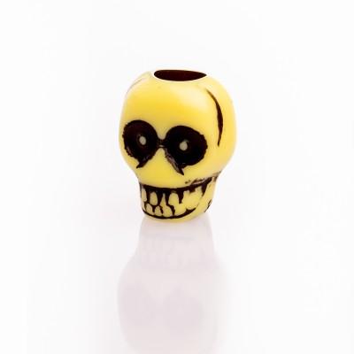 Beard Bead Skull Yellow